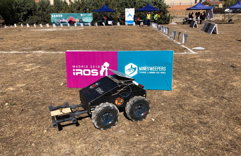The winner robot in Minesweepers International Competition in Madrid, Spain